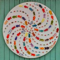 Wall Decoration with Ceramic Fishes - Otro Mar Ceramic