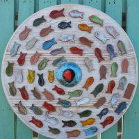 Wall Decoration with Ceramic Fishes - Otro Mar Ceramic