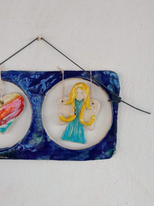 CERAMIC ANGEL AND HEART