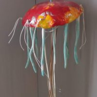 Ceramic jellyfish lamp - Otro Mar Ceramics