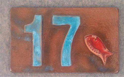 Ceramic House Number Tile