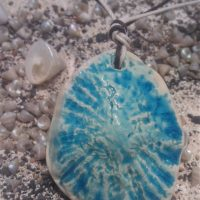 Ceramic Shell Pendant - Otro Mar Ceramics
