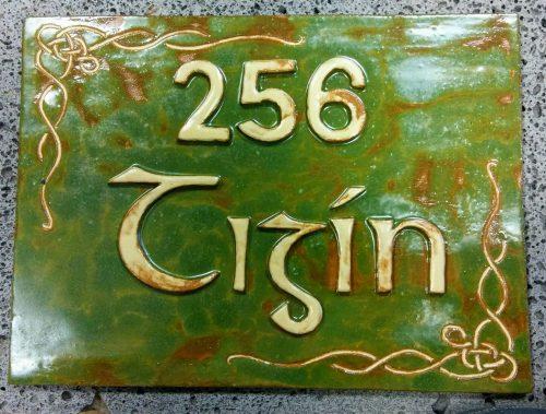 Custom Ceramic House Name Signs - Otro Mar Ceramic