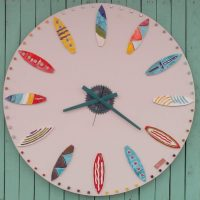 Sufboards ceramic wall clock - Otro Mar