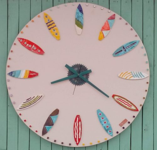 Sufboards ceramic wall clock - Otro Mar