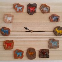 ceramic goats wall clock - Otro Mar