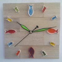 ceramic fishes wall clock - Otro Mar