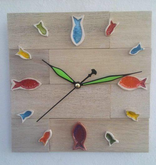 ceramic fishes wall clock - Otro Mar