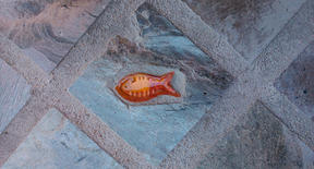 Small Ceramic Fish in Lava Stone - Otro Mar Ceramics