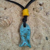 Ceramic Fish Pendant - Otro Mar Ceramics