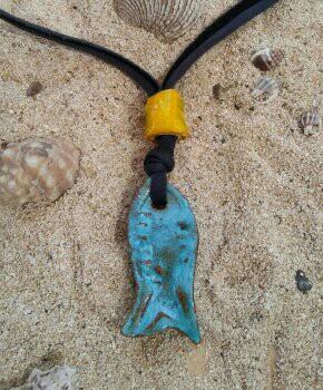 Ceramic Fish Pendant - Otro Mar Ceramics