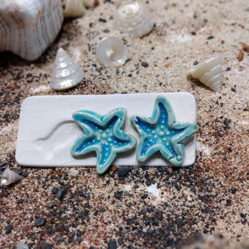 ceramic starfish earring studs