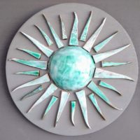 HANDMADE CERAMIC SUN WALL DECORATION